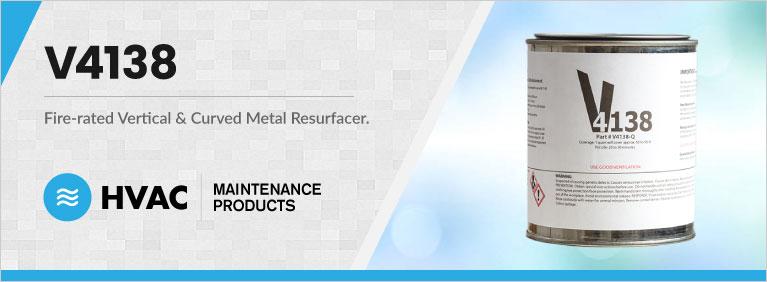 V4138 fire-rated vertical resurfacer & curved metal resurfacer banner